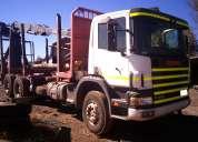 Camión scania p340 6x4 año 2007 con grua hood año 2012 y carro