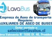 Auxiliar de aseo - buses transantiago