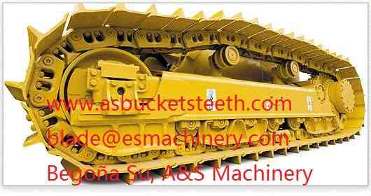 Topadora bulldozer componentes rodados y cadenas CAT d6
