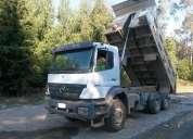 Camión mbenz 2831 6x4 año 2010 tolva de 12m3