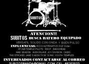 Subitos banda busca baterista rock