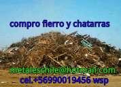 Compro fierro y chatarras en santiago  wsp 90019456 jose