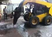 arriendo minicargador con martillo en ñuñoa  227098271 demoliciones