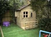 Casitas de muñecas y casa club en madera impregnada