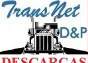 Descarga de contenedores, camiones y ramplas