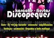 Prod. de eventos - karaoke . y dj eventos a domicilio - creamusic eventos