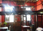 Arriendo pub-restaurant, con patentes