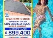 Remate paneles solares piscinas
