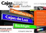 Letreros, cajas de luz, backlight, panaflex, diseÑo grafico, instalacion