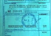 Patente alcoholes com. estacion central clase (a)