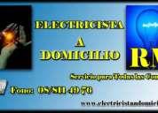 Electricista a domicilio 88114976 las 24 horas