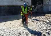 Demoliciones menores con martillos neumaticos
