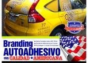 Branding autoadhesivo y cambio de color a vehiculos