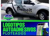 DiseÑo y ploteo de logotipos autoadhesivos para vehiculos