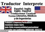 traductor interprete ingles tecnico todo chile