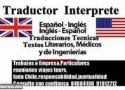 traductor interprete ingles tecnico todo chile