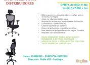 Vendo sillon h 426 para escritorios oficina nuevos