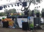 Música fiestas costumbristas, amplificación, sonido e iluminación