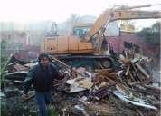 Demoliciones en santiago 227098271  limpieza de terreno en todo stgo