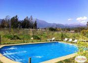 Arriendo parcela cabaña, piscina, quincho