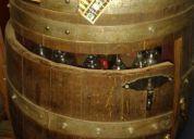 Excelente barril bar reforzado original de viña