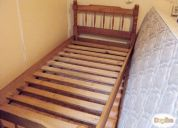 Vendo camas de 1 plaza: colchon y catre madera