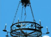 Vendo lampara diseño europeo forja