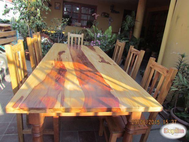 Vendo Mesa de comedor con 08 sillas en diferentes maderas, El Monte ...