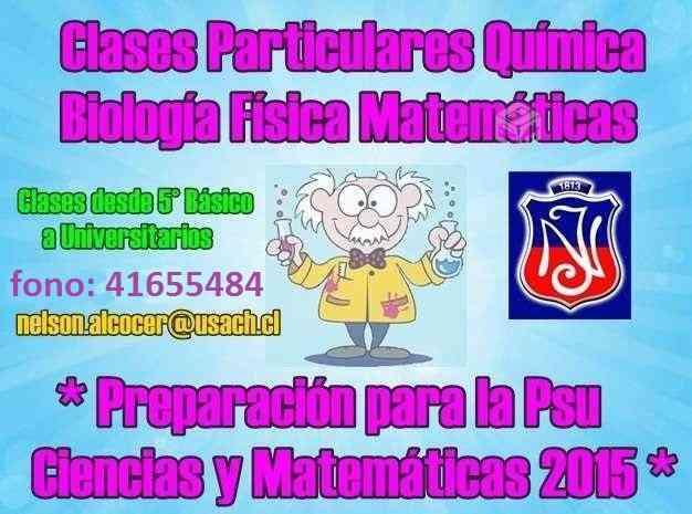 * CLASES QUIMICA BIOLOGIA MATEMATICAS PSU