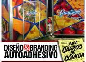 Gráficas adhesivas y branding de carros de comida rapida