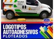 Logotipos adhesivos reflectantes y magneticos para camionetas