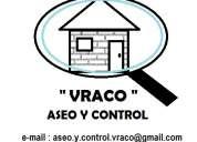 """Servicio de aseo y control, """"vraco"""", en la comuna de colina."""