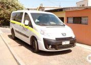 Se remata excelente minibus peugeot expert premium aÑo 2012