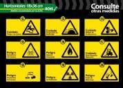 Letreros y señales de prevencion de riesgos