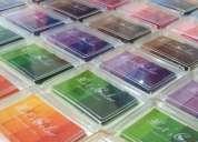 Huelleros 4 tonos variados colores para cuadro de huellas