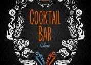 Barra móvil cocktail bar chile, servicio de bar a domicilio para eventos
