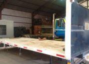 Plataforma metálica diamantada para camión,buen estado!