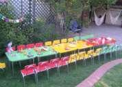 Arriendo eventos infantiles sillas mesas