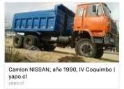 Vendo camión nissan  doble puente 1990