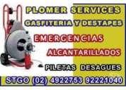 Destapes stgo urgencias desagues lavaplatos lavamanos 992221040