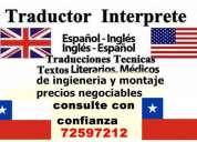 Ingles avanzado excelente dominio de ingles técnico profesional todo chile
