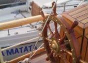Excelente velero clásico de madera. en valparaíso.