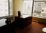 Arriendo excelente oficina compartida. en santiago.