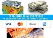 Cambio cupo dolar tarjetas de credito a pesos