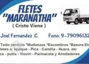 """Fletes """"maranatha"""" dentro y fuera de la ciudad"""