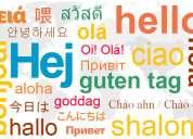 Traducciones y clases de idiomas ingles japones chino turco
