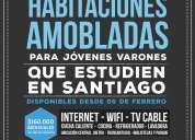 PIEZA AMOBLADA ARRIENDO a joven chileno trabaje