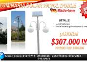 Poste solar 3 mts luminaria led