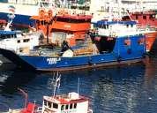 Barcaza nave menor registro inferior a 50trg, transporta 60 toneledas
