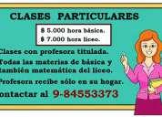 Clases particulares bÁsica y liceo